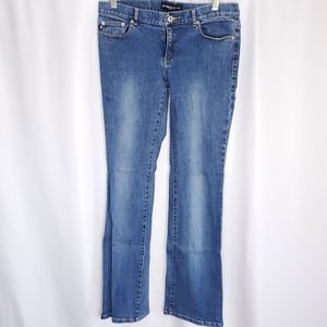 Express bootcut faded jeans sz 9/10
